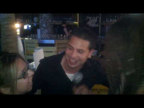 Karaoke at a bar in Miami Beach