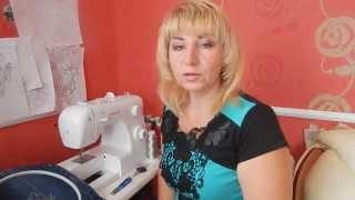 Машинная Вышивка Как научиться вышивать на простой машинке Урок№1