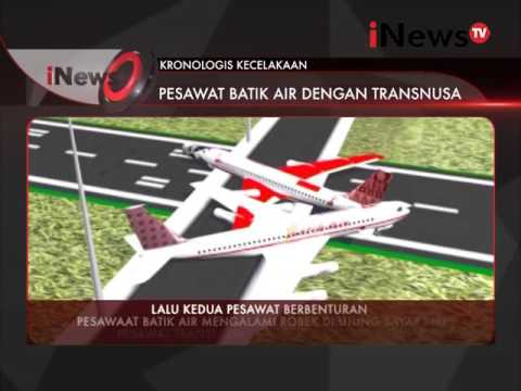 Kronologi kecelakaan pesawat Batik Air dengan Transnusa - iNews Petang 05/04