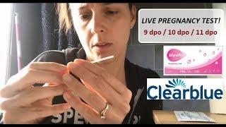 LIVE PREGNANCY TEST!   Cycle 3   9dpo - 10dpo - 11dpo   TTC After Miscarriage