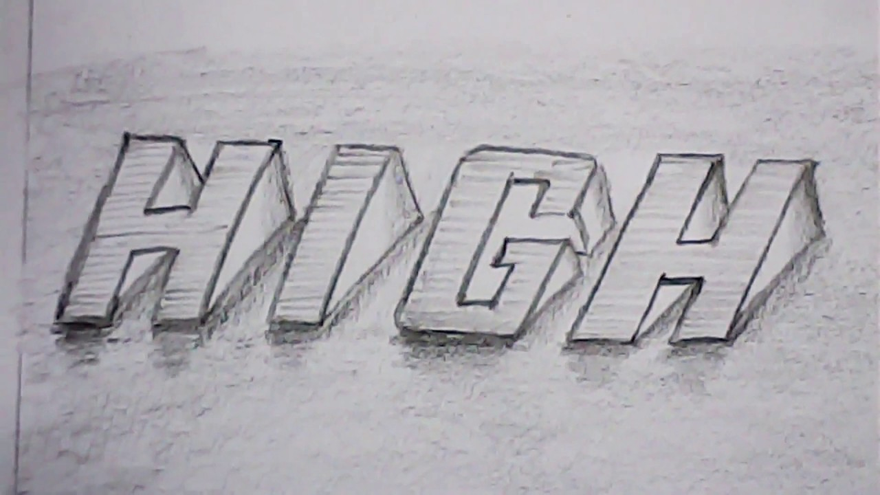 3d lettering high word letter designing mazic writer youtube