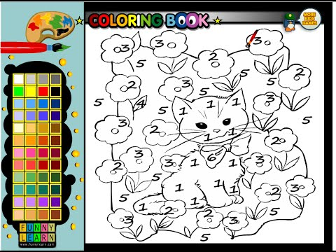 Color By Number Coloring Pages - Color By Number Cat Coloring Pages