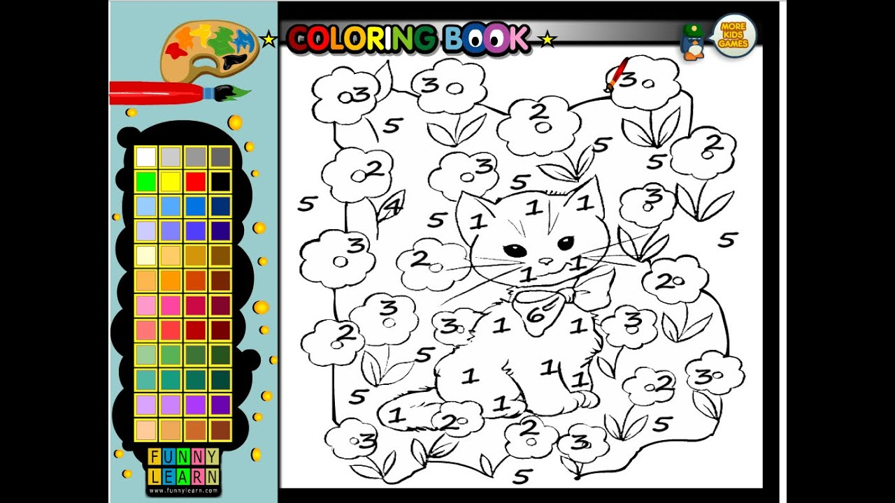 Color By Number Coloring Pages - Color By Number Cat Coloring Pages ...