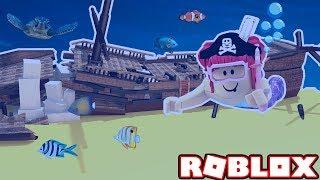 LA QUÊTE PIRATE! Roblox Plongée sous-marine! Amy Lee33