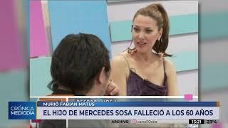 Falleció Fabián Matus, el único hijo de Mercedes Sosa