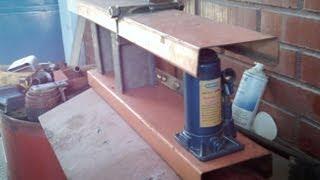dobladora circular para tubos y perfiles DTU parte1