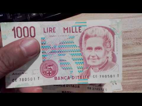 Italian Lire, Pre Euro Banknotes - EBay Sale!