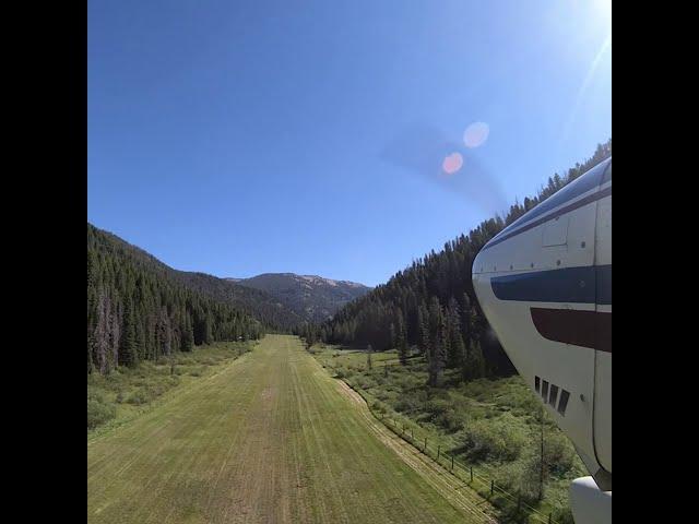 Departing Big Creek Airstrip U60