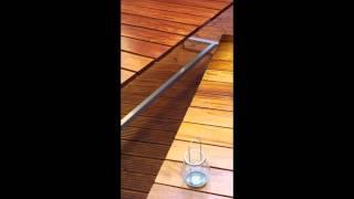 Bespoke Handmade Outdoor Wood & Steel Table & Bench