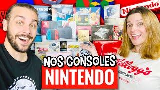 TOUTES NOS CONSOLES DE JEUX VIDÉOS NINTENDO | COLLECTION NINTENDO ! (SWITCH, NINTENDO 64, DS,....)