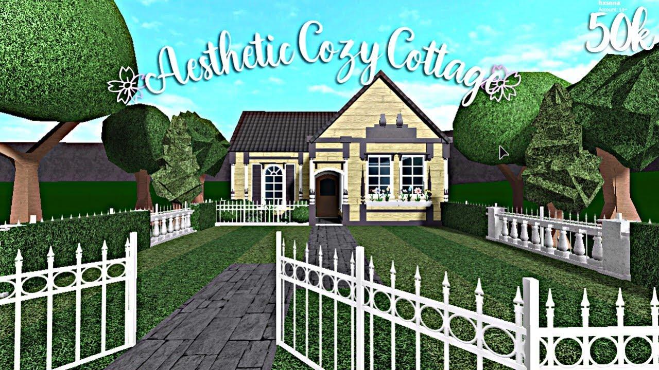 Bloxburg Aesthetic Cozy Cottage 50k Youtube