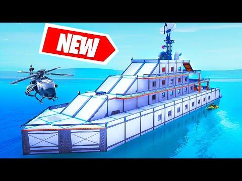 NEW YACHT Build CHALLENGE! (Fortnite Creative) - YouTube