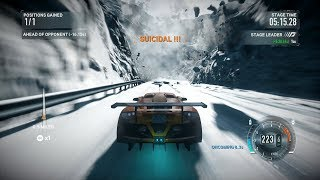 "Need For Speed The Run - Hidden ""Suicidal !!!"" Achievement In The Avalanche Race"