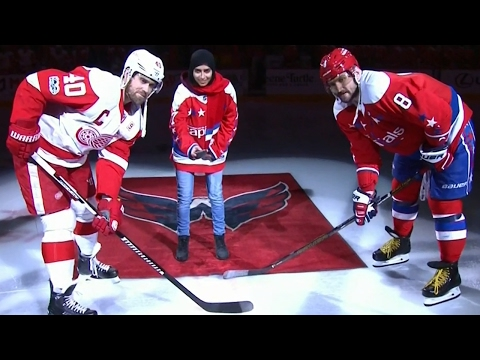 From Dubai to Washington, Fatima Al Ali drops ceremonial puck at Capitals game