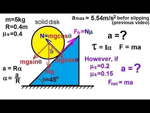 Physics - Mechanics: Rigid Body Rotation (8 of 10)  Rolling Object on an Incline: Ex 2
