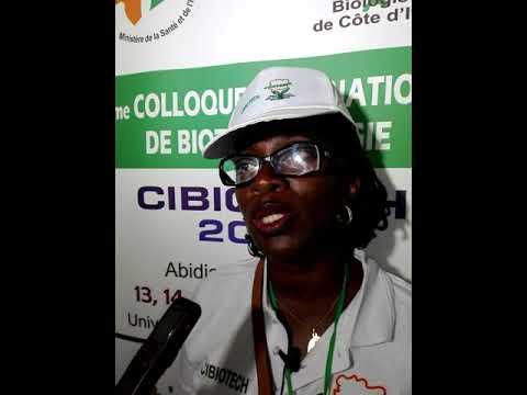 2ieme édition CIBIOTECH 2018: la présidente de l'UNATEBCI ,Mme Bilé Josiane parle des enjeux