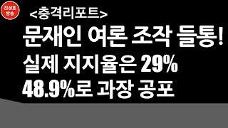 문재인 여론조작 들통! 실제 지지율은 29% 48.9% 과장 공포 (진성호의 직설)