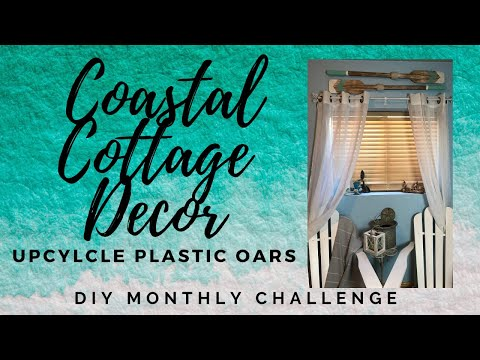 Coastal DIY Oars / DIY Monthly Challenge Summer Coastal Theme