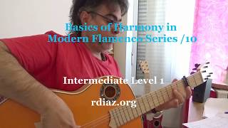 From 4 to 16 chords harmony in modern flamenco guitar 10 / Ruben Diaz lesson / Paco de Lucia´s Style