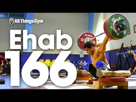Mohamed Ehab (77kg) 166kg Snatch off Blocks PR