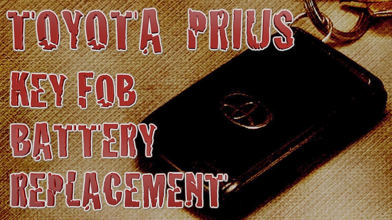 Prius Key Battery >> How To Replace 2004 Toyota Prius Key Fob Battery