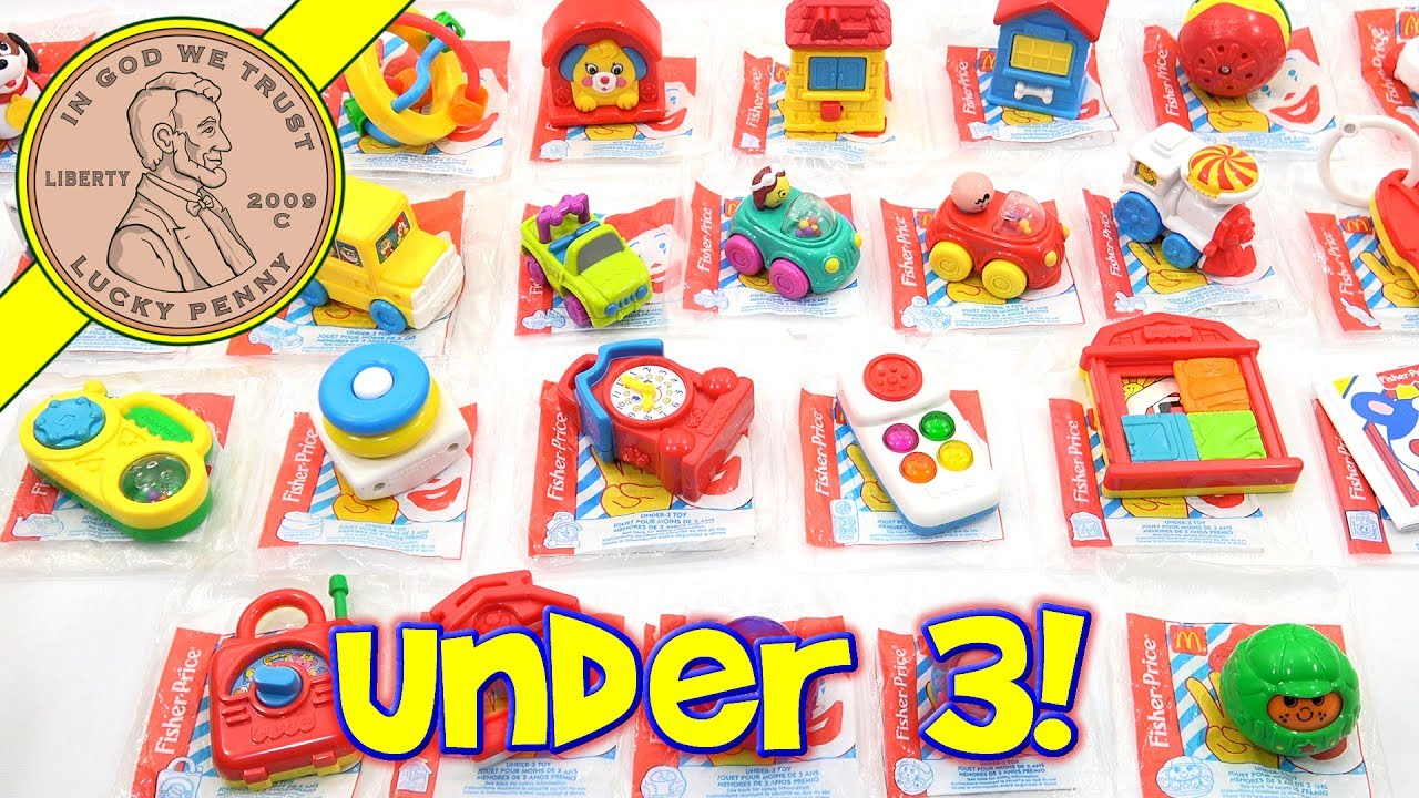Kids Under 3 Fisher Price McDonald's 1996 Happy Meal Fast Food Toy Complete  Set