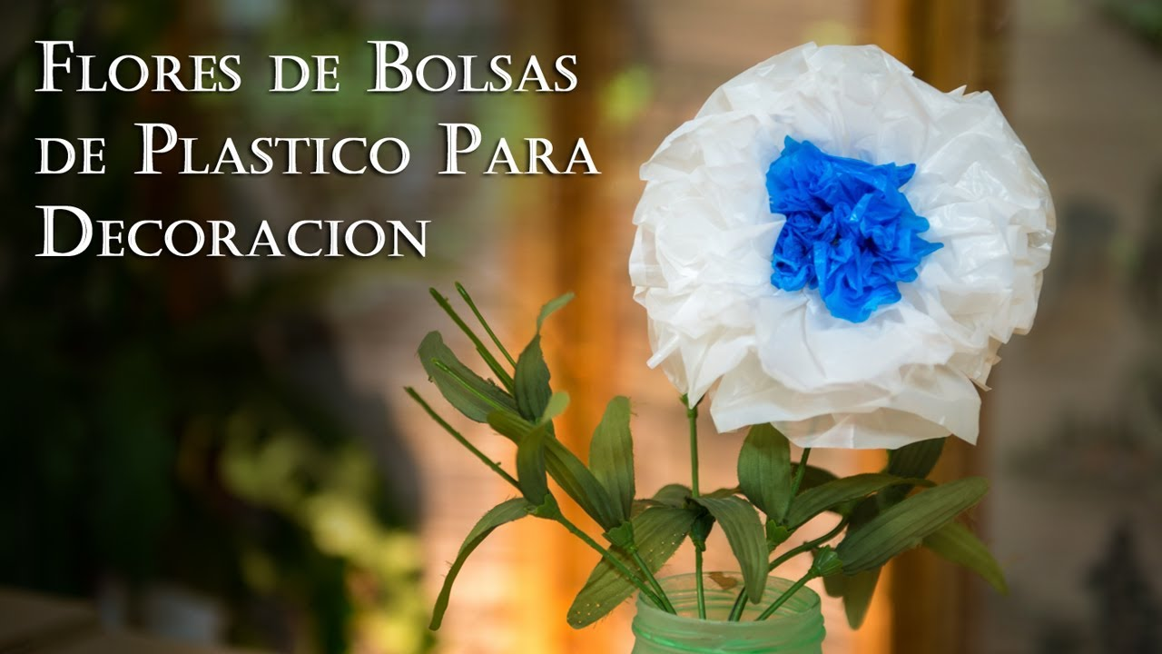 Flores De Bolsas De Plástico Para Decoracion