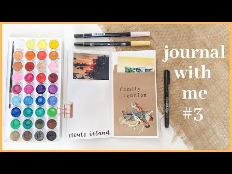 Journal With Me #3 | Family Reunion | Traveler's Notebook