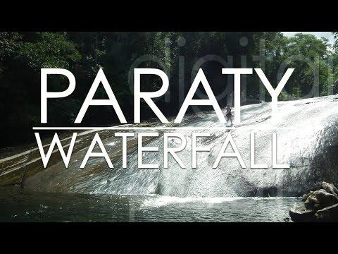 Paraty Brazil Waterfall with waterslide