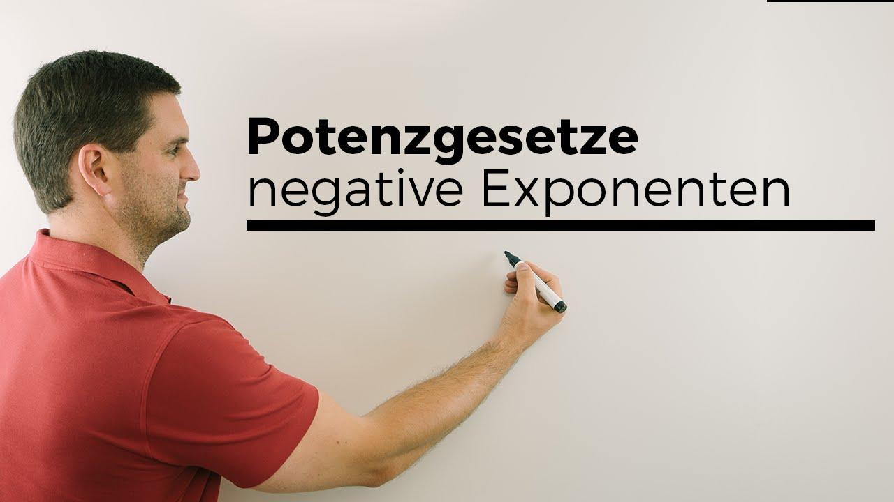 Potenzgesetze, negative Exponenten, Potenzen umschreiben | Mathe by ...