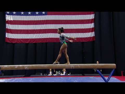 VIDEO: Simone Biles Performs Historic Balance Beam Dismount