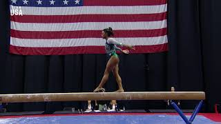 Download Simone Biles Debuts New Double Double Beam Dismount | Champions Series Presented By Xfinity Mp3 and Videos