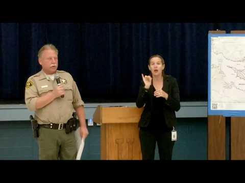 10/15/2017 Ukiah Press Conference MendocinoLake Fire Complex