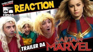 🎬 Capitã Marvel - Reaction do Trailer - Irmãos Piologo Filmes