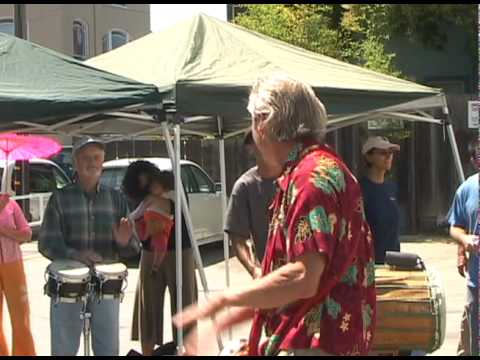 Jim Greiner Santa Cruz, CA Benefit Community Drumming Event