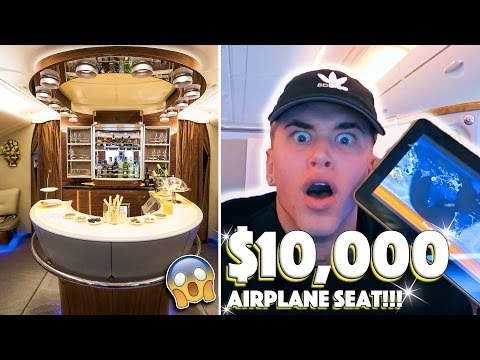THE $10,000 AIRPLANE SEAT (emirates)