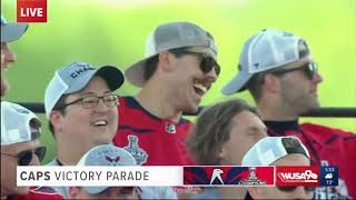 The Washington Capitals are introduced to DC for the first time as Stanley Cup Champions