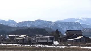 キハ120 317大糸線 425D 頸城大野発車