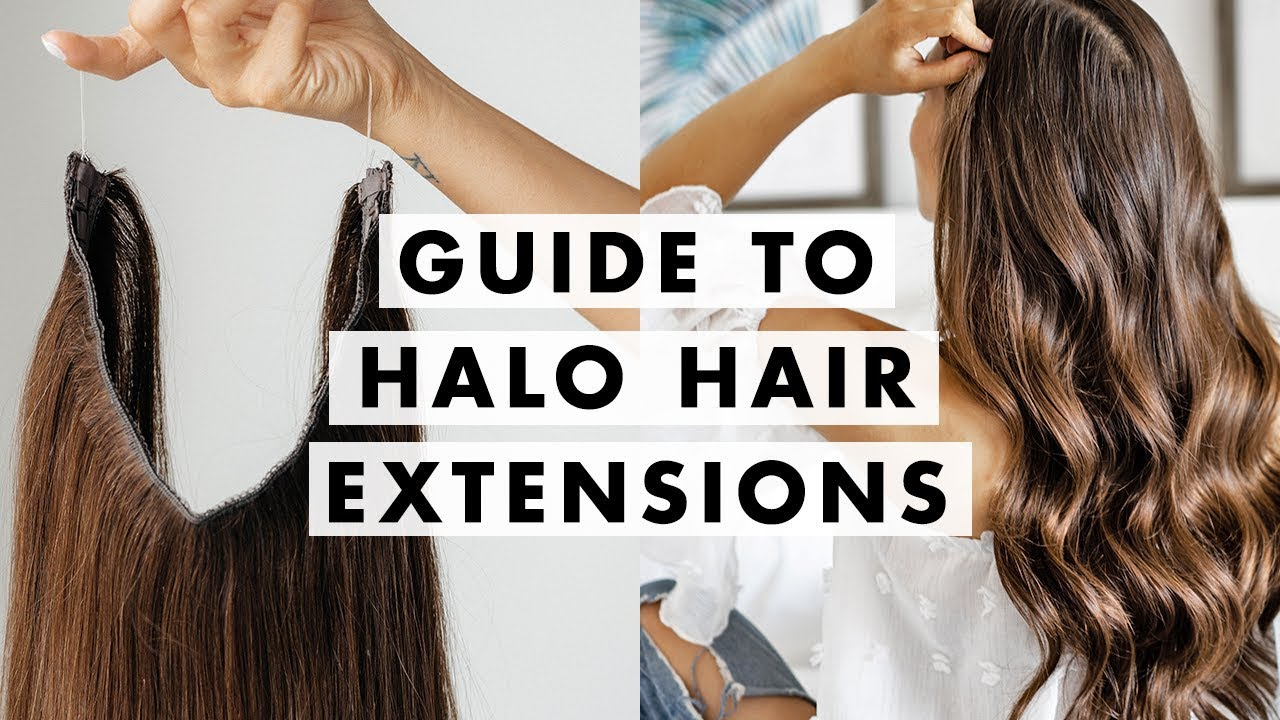 How To Wear Halo Hair Extensions Luxy Hair Youtube