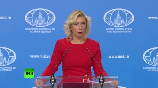 Zakharova holds weekly press briefing in Moscow