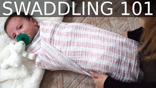 How To Swaddle A Newborn Baby Using A Double Swaddle