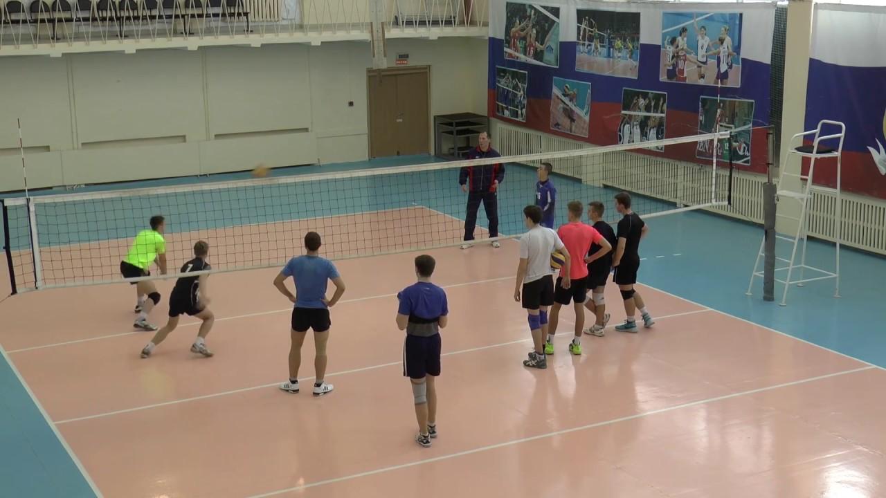 Обучение волейболу. Отработка нападающего удара, паса и приема. Без сетки
