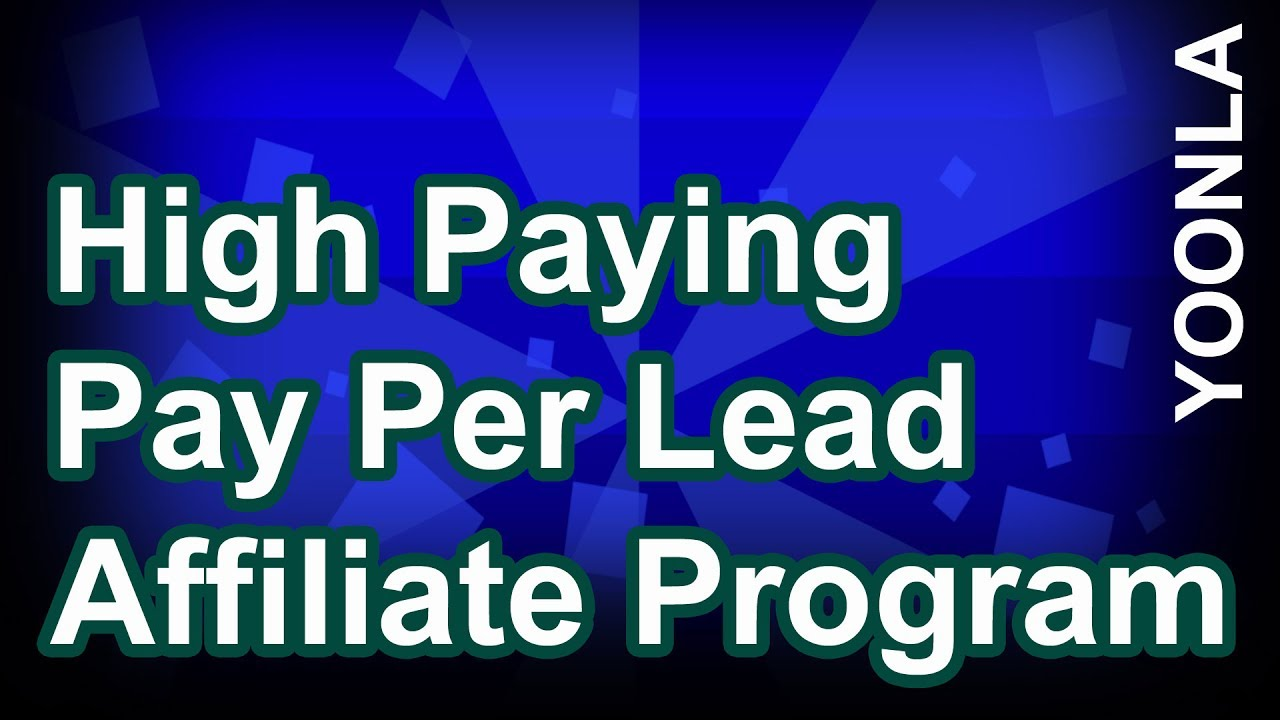 High Paying Pay Per Lead Affiliate Program - Make $1,284 Per Month in just  minutes per day