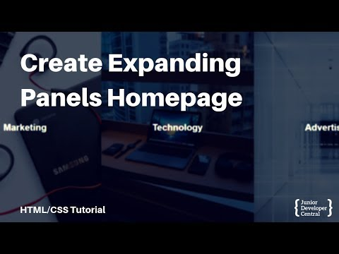 HTML And CSS Tutorial: How To Create Expanding Homepage Sections