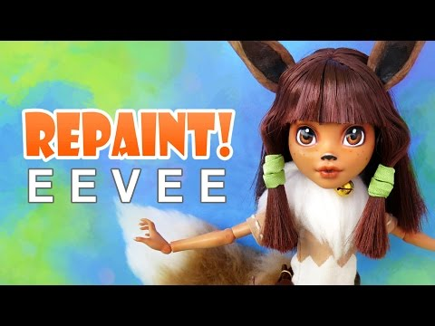 Repaint! Eevee Pokemon OOAK Custom Doll