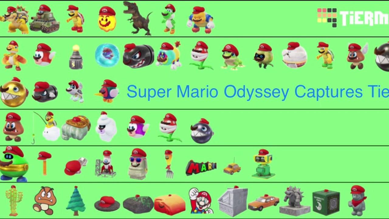 Super Mario Odyssey Captures Tier List