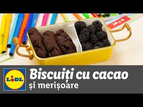 Biscuiti cu cacao si merisoare • reteta Bucataria Lidl