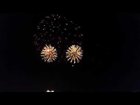 Drunken tongans on a P & O Cruise fireworks