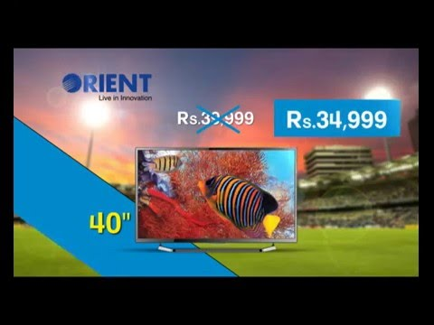 Orient LED TV ICC World Cup 50 & 40