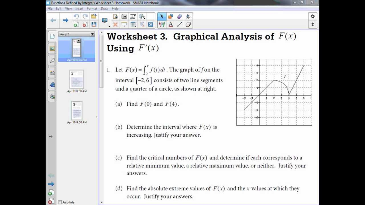 Functions Defined by Integrals Day 3 - YouTube